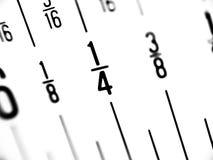 Regla en fracciones de pulgadas fotografía de archivo libre de regalías