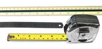 Regla, escala, cinta Imagen de archivo libre de regalías
