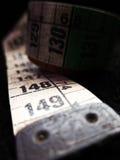 Regla vieja del paño de la costurera del sastre Imágenes de archivo libres de regalías