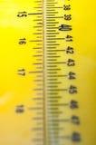 Reglas amarillas Fotos de archivo