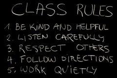 Reglas de clase Foto de archivo libre de regalías