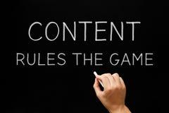 Reglas de contenido The Game Foto de archivo