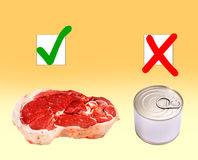 Reglas de la nutrición Fotografía de archivo