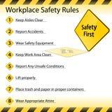 Reglas de la seguridad del lugar de trabajo Fotos de archivo libres de regalías