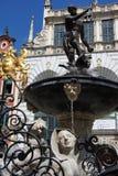 Reglas de Neptuno en Gdansk Imagenes de archivo
