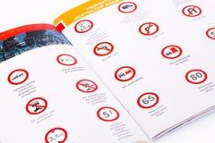 Reglas de tráfico Imágenes de archivo libres de regalías