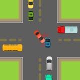 Reglas de tráfico generales Dé vuelta a la izquierda en los cruces libre illustration
