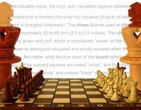 Reglas del juego Imagen de archivo libre de regalías