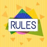 Reglas del texto de la escritura Autoridad del poder del ejercicio del significado del concepto última sobre área y su regulación ilustración del vector