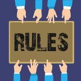Reglas del texto de la escritura Autoridad del poder del ejercicio del significado del concepto última sobre área y su regulación libre illustration