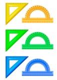 Reglas - triángulos y prolongadores fotos de archivo libres de regalías