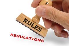 Reglas y regulaciones Imagenes de archivo