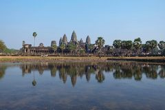 Reglections of Angkor wat Stock Images