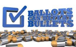 Reglementierung von Waffenbesitz-Politik - Wahlkampfthema an der Wahlurne Lizenzfreie Stockfotos