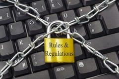 Regler och reglemente Royaltyfria Bilder