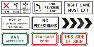 Reglerande vägmärken för Förenta staterna MUTCD Arkivfoto
