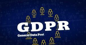 Reglering för skydd för allmänna data stock video