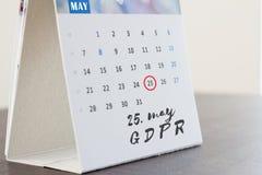 Reglering för skydd för allmänna data för GDPR arkivfoton