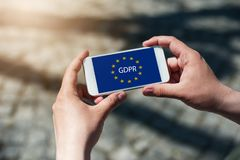 Reglering GDPR för skydd för allmänna data Arkivbilder