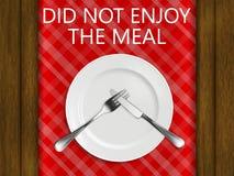 Reglerna av etikett i en restaurang tyckte om inte målet på bakgrunden av ett beträffande Royaltyfria Foton