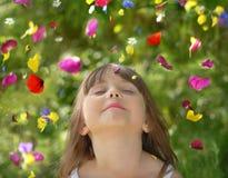 Regn av blommor 库存照片