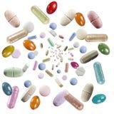 Regn av preventivpillerar Arkivbild