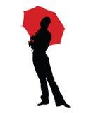 regn för 3 flicka Royaltyfri Fotografi