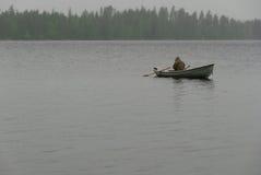 regn för fartygfiskaredimma Royaltyfri Foto