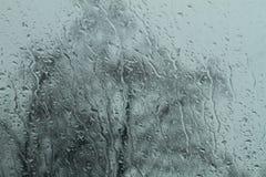 Regn fodrar på vindrutan Fotografering för Bildbyråer