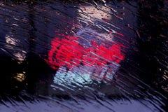 Regn gjorde genomvåt ljus Royaltyfri Foto