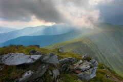 Regn i bergen Royaltyfria Foton
