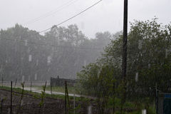 Regn och storm Fotografering för Bildbyråer