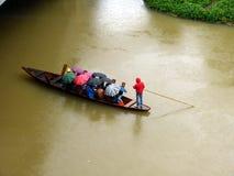 Regn på floden Royaltyfria Foton