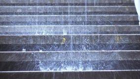 Regn på momenten lager videofilmer