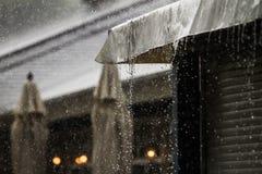 Regn på taket Royaltyfria Bilder