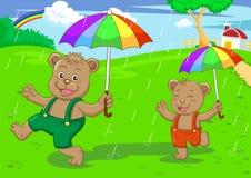 regna för björnbroderdag stock illustrationer