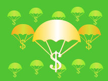 regna för pengar Arkivfoton
