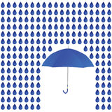 Regna och paraplyet Royaltyfri Bild