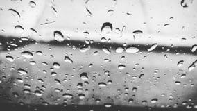Regna på fönster Royaltyfri Bild