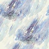 Regna tappar vattenfärg royaltyfri bild