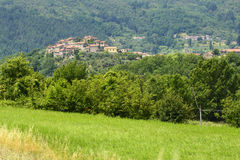 Regnano, old village in Tuscany Stock Images