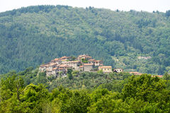 Regnano, oud dorp in Toscanië Royalty-vrije Stock Afbeelding