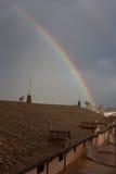 Regnbåge över Vaticanen Arkivbilder