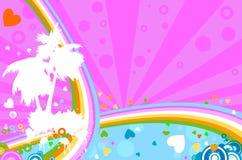 regnbåge stock illustrationer