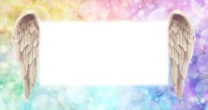 Regnbåge Angel Wings Message Board royaltyfri bild