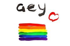 Regnbåge av sex färger, symbol av homosexualitet, isolerad bakgrund, stolthet stock illustrationer