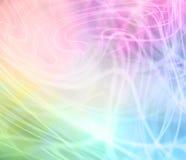 Regnbåge färgad virvlande runt grafisk bakgrund royaltyfri illustrationer