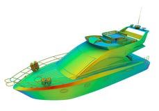Regnbåge färgad yacht vektor illustrationer
