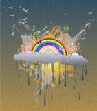regnbåge för 2 diagram Royaltyfria Foton