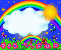 regnbåge för fjärilsfärgfält stock illustrationer